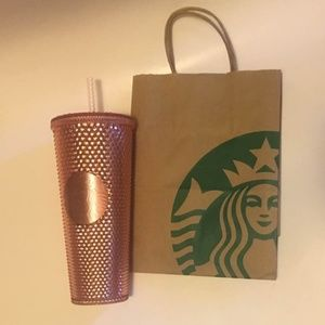 Starbucks Rose Gold Rhinestone 24oz Tumbler Rare